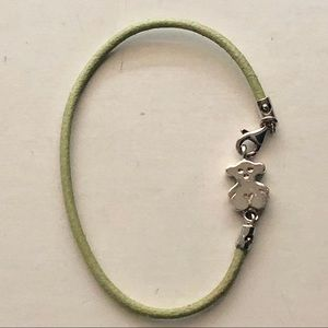💯 Tous Green Leather Bracelet